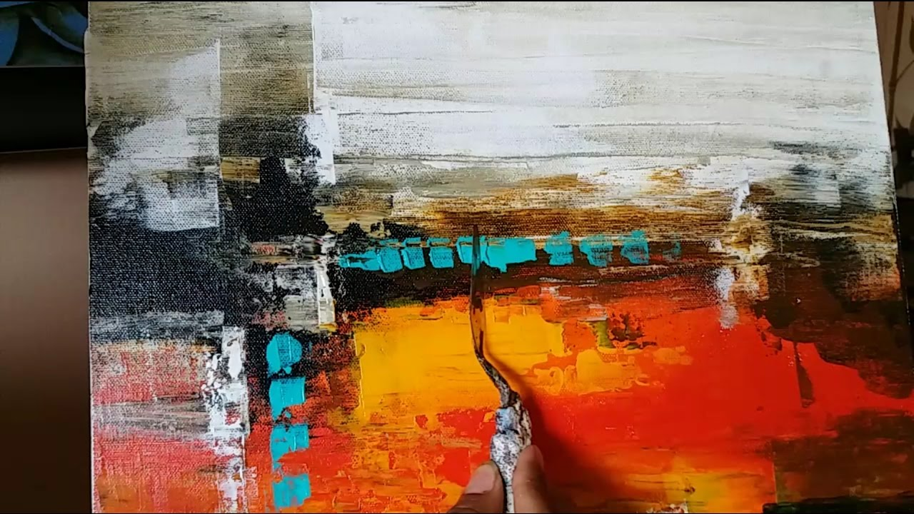 7c745d9daac Acrylic Abstract Painting   EASY palette Knife techniques   Demonstration