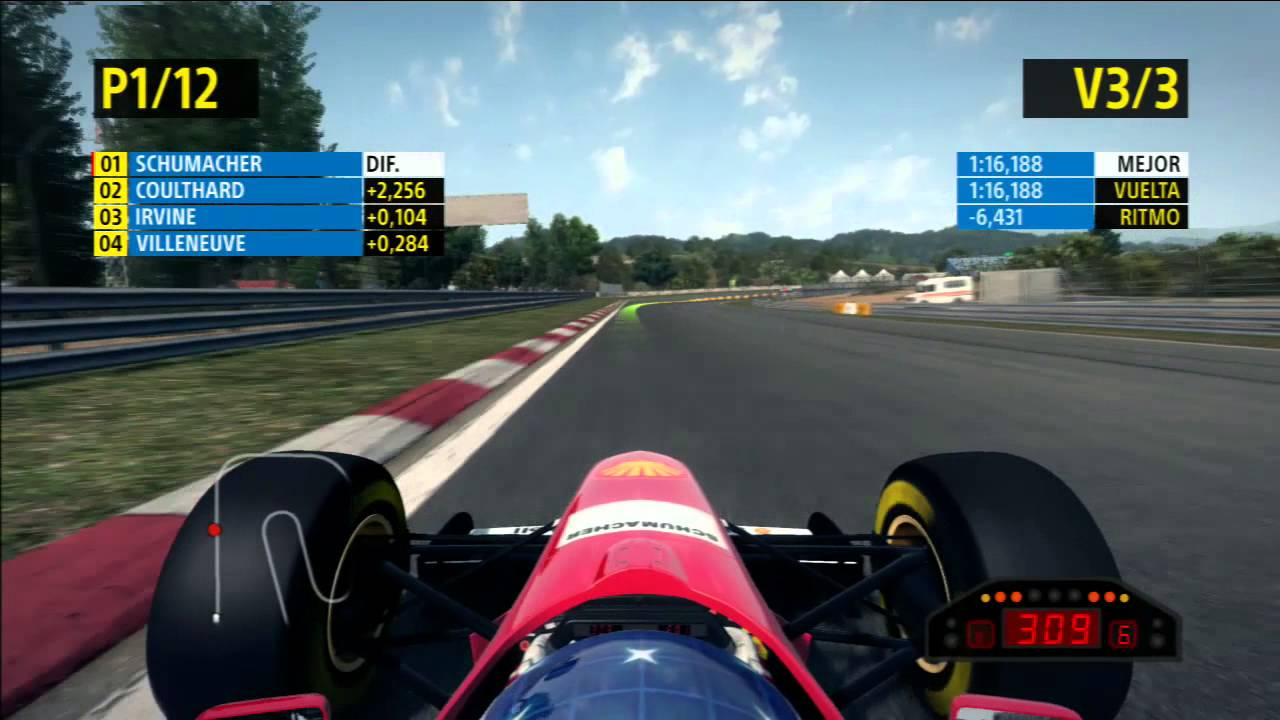 F1 2013 PS3   Classic edition   Michael Schumacher carrera en Estoril
