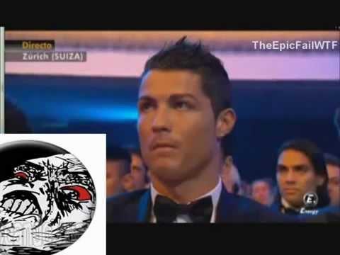 La reacción de Cristiano Ronaldo Porque Messi Gano el Balón de Oro 2013