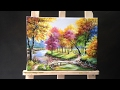 Download Painting a Autumn Forest Lanscape with Acrylics