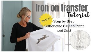 HOW TO: Iron on Transfer, Silhouette Cameo Print and Cut Tutorial