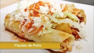TACOS DORADOS - FLAUTAS DE POLLO - RECETA FACIL
