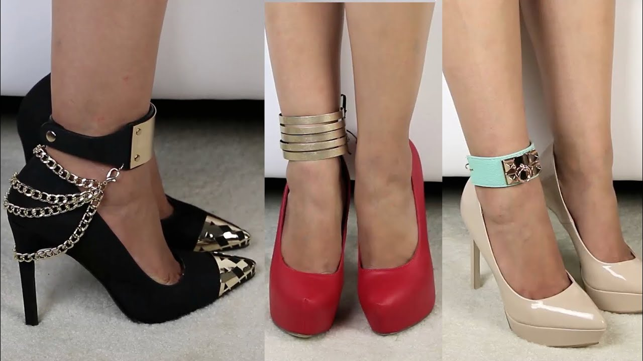 DIY Shoe Accessories Amp DIY Anklets YouTube