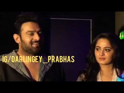 Prabhas & Anushka - ❤❤❤   Bahubali Dubai promotions   Darling and Sweety   Pranushka Moments