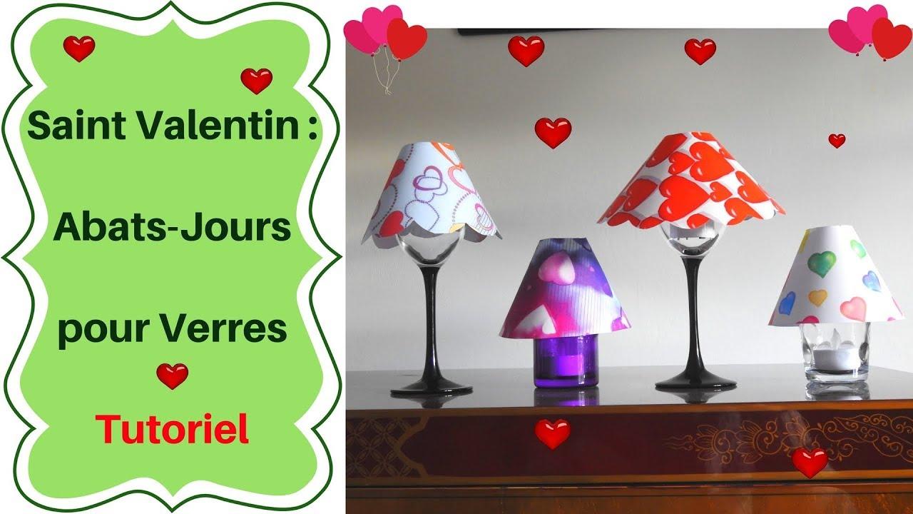 Patron Abat Jour Papier saint valentin : fabriquer des abat-jours pour verres