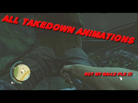 ► ALL TAKEDOWN ANIMATIONS | FC3