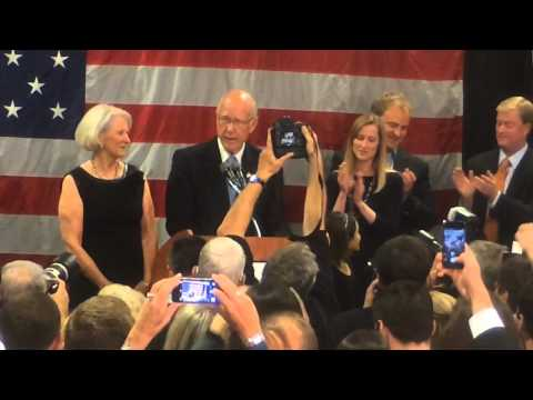 Republican Pat Roberts celebrates re-election to U.S. Senate from Kansas