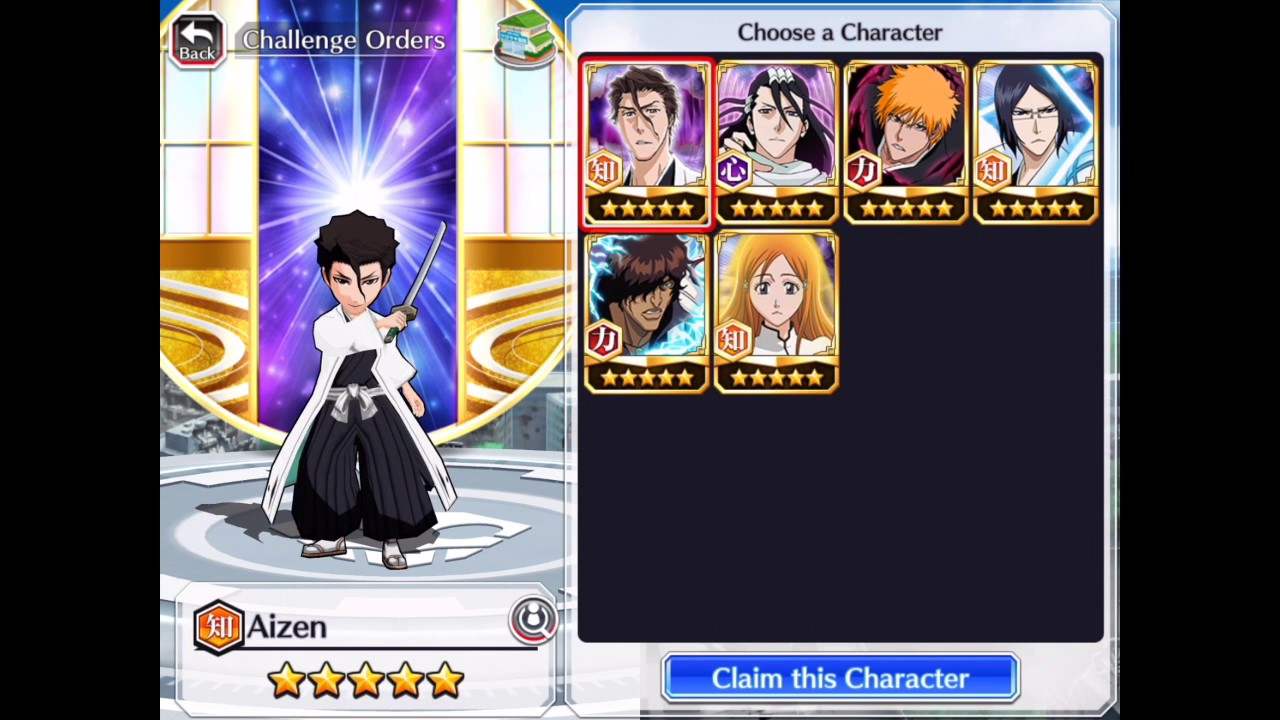 Bleach brave souls character list
