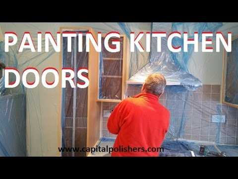 Painting Kitchen Doors In Dulux Jasmine White Resurfacing Cabinets