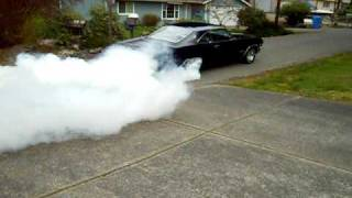 My 1965 Chevy Impala SS burn out!!!