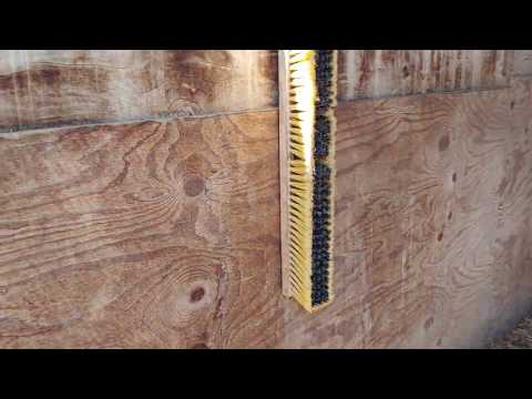 DIY - Make your own horse scratch station out of push brooms