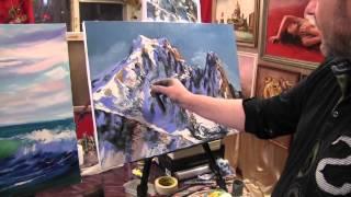 Игорь Сахаров, научиться рисовать маслом горы, горный пейзаж(Записаться на мастер-класс Игоря Сахарова + 7 915 331 60 53., 2015-08-28T21:50:13.000Z)