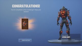 *UNLOCKED* NEW FREE Fortnite REWARD 'DYING LIGHT' Back Bling After Destroying Cars (RUIN Challenge)