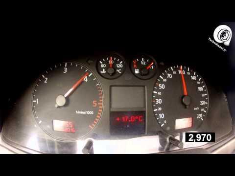 Timo's A4 B5 2.5TDi quattro - acceleration and speedo