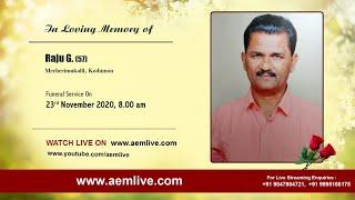 Raju G. (57), Mecherimukalil, Kodumon
