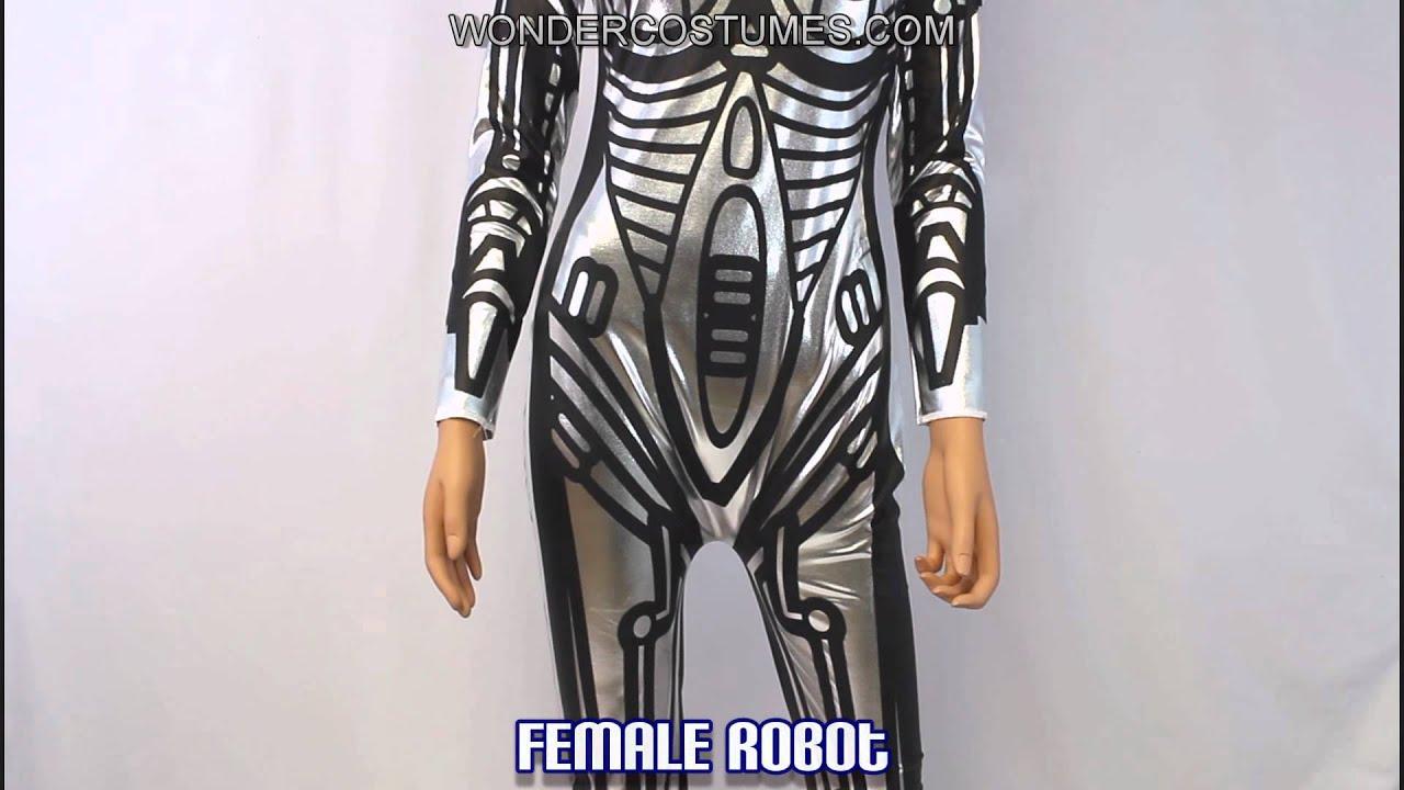 Female Robot Adult Costume & Female Robot Adult Costume - YouTube
