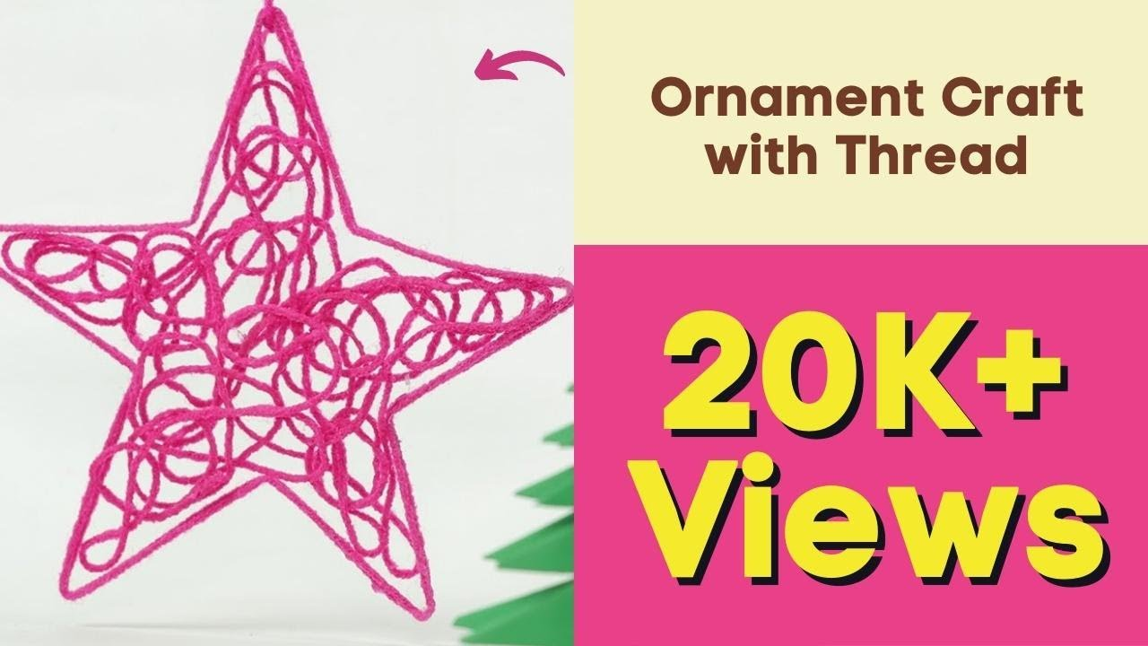 diy christmas star ornament craft with thread homemade christmas decorations youtube