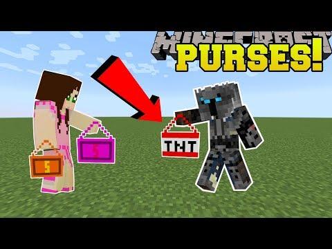 Minecraft: PURSES!!! (SMACK PEOPLE, LOOK EPIC, & BLOW UP BLOCKS!) Mod Showcase