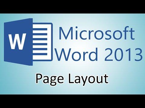 Microsoft Word 2013 Tutorials - Page Layout