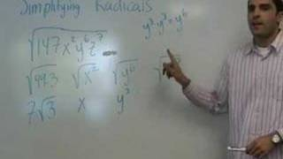 Algebra - Simplifying Radicals (part 2)