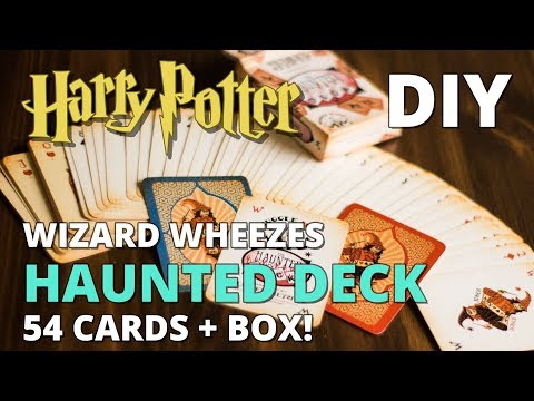 DIY Haunted Deck - Weasleys' Wizard Wheezes Playing Cards