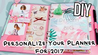 DIY PLANNER Supplies! FREE stickers, Cover, Dividers, Dashbobard & more!