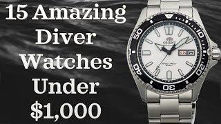 Best Diver Watches Under $1000 (Top 15 Watches)  | Best Divers 2018