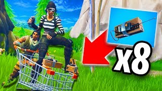 TROLLING PEOPLE WITH C4 SHOPPING CARTS! *HILARIOUS!* | Fortnite Battle Royale