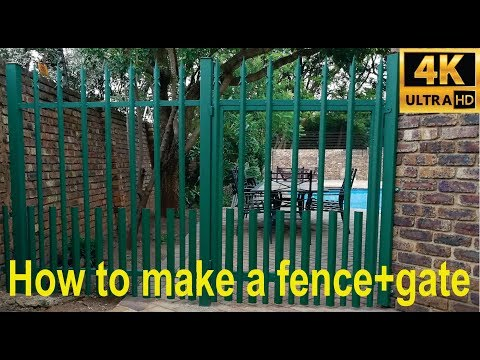 How to make a small palisade fence and gate (steel) - detailed