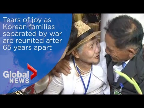 Tears of joy as Korean families torn apart by war are reunited after 65 years