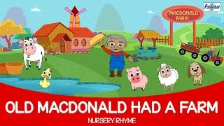 Old Macdonald Had A Farm with Lyrics | Popular English Rhymes for Children in 4K | Songs for Kids