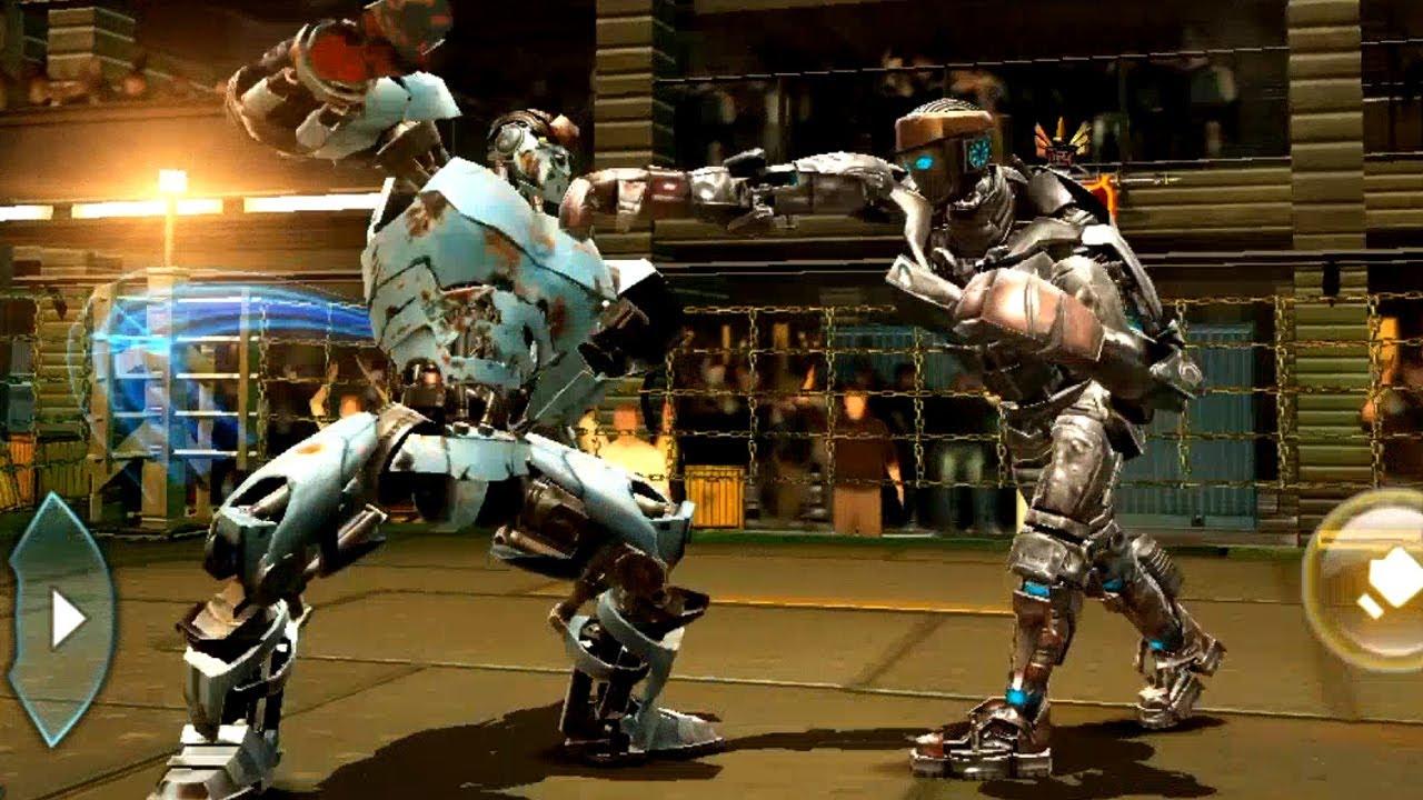 REAL STEEL WRB Ambush VS Atom & Fat Boy & Sarge & Six Shooter