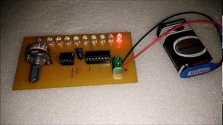 Simple Running LED NE555 + 4017