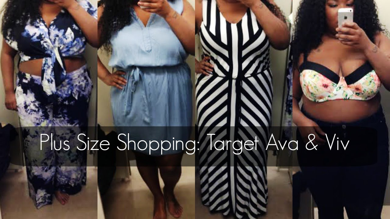 0294d24971d7e Plus Size Shopping  Target Ava   Viv - YouTube