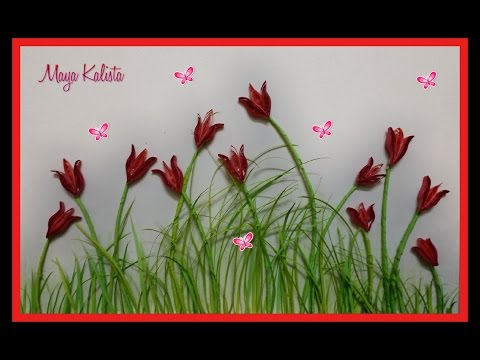 How to make DIY  Paper Quilling DESIGNS - Art / Flower Designs / Ideas Tutorial !