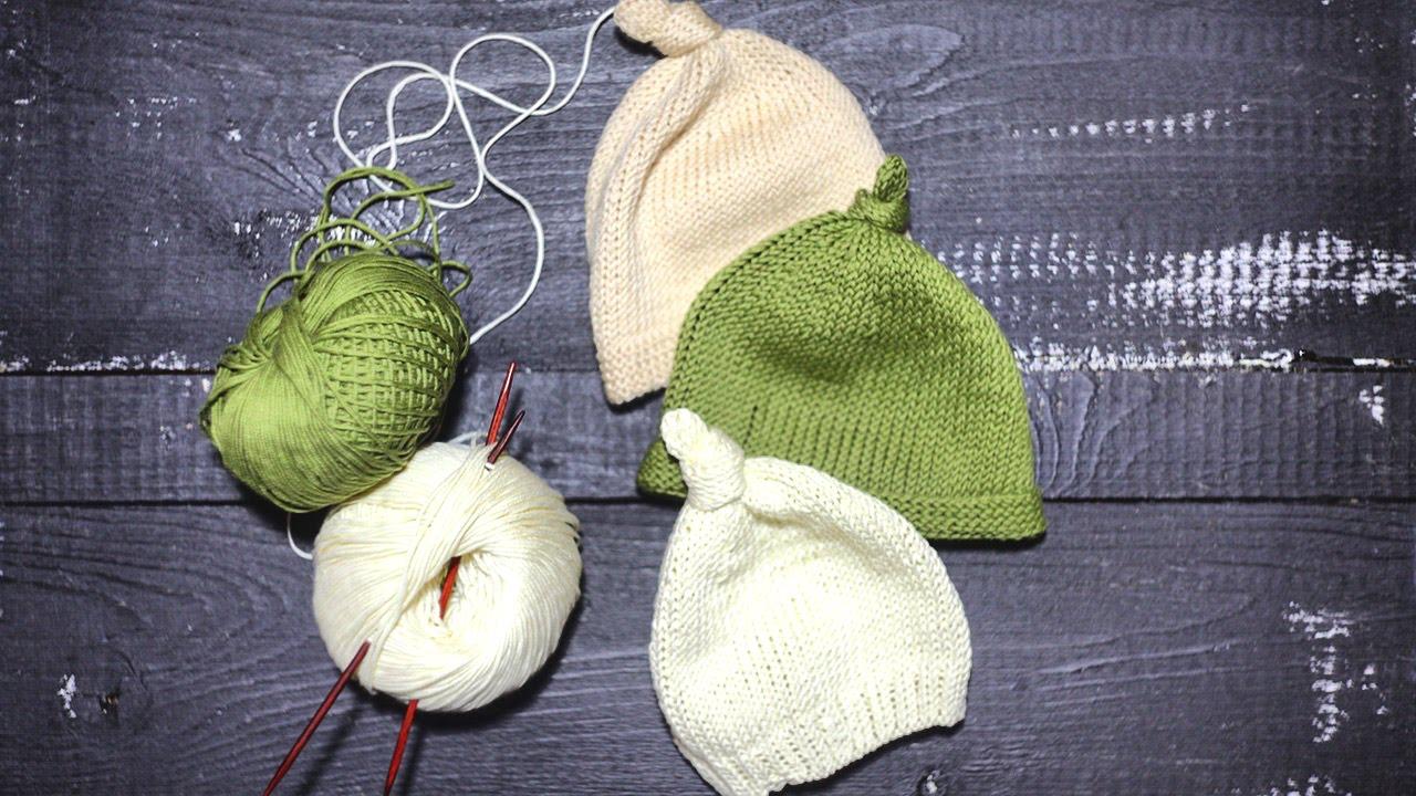 Как вязать спицами ШАПОЧКА Часть 2 | манифтв рукавички
