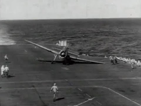 Carrier Landings WWII U.S. Navy - YouTube