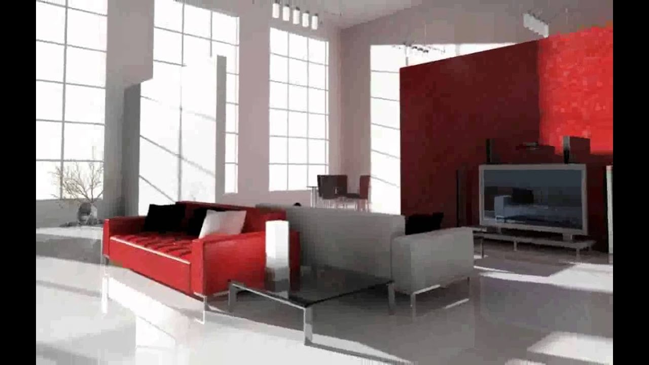 Pinturas de paredes modernas youtube for Casas modernas interiores salas
