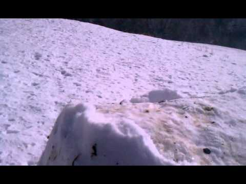 Rolling a giant snowball down a hill