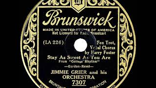 1934 HITS ARCHIVE: Stay As Sweet As You Are - Jimmie Grier (Harry Foster, vocal)