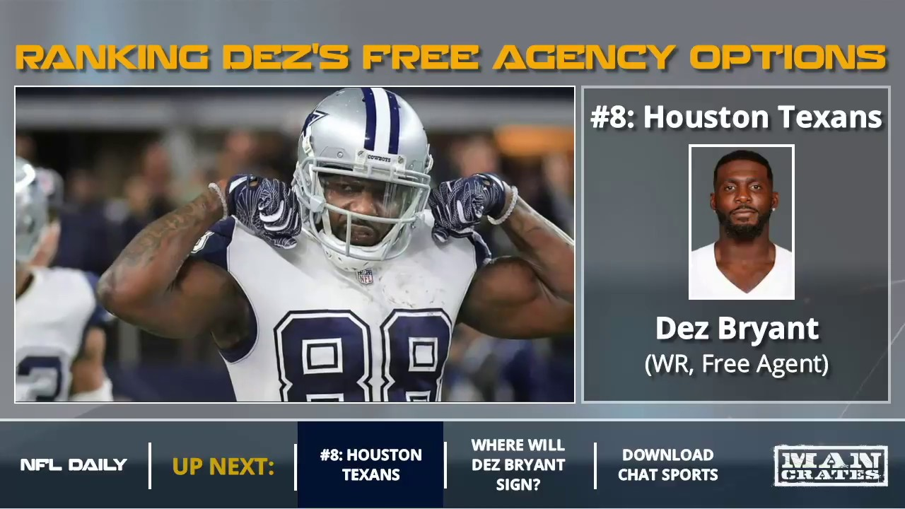 Dez Bryant Ranking Each Nfl Team As A Potential Free Agency Destination