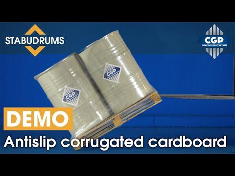 STABUDRUMS - Antislip Corrugated Cardboard For Drums And Jerrycans #CGPCoatingInnovation