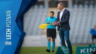 Trener Dariusz Żuraw oraz Kamil Jóźwiak po meczu z Koroną Kielce