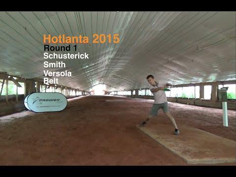 Hotlanta 2015 - Rd 1 - Feature Card (Schusterick, Smith, Versola, Belt) Disc Golf