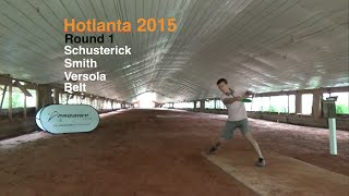 Hotlanta 2015 - Rd 1 - Feature Card (Schusterick, Smith, Versola, Belt) Disc Golf