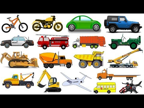 Learn TRANSPORT VEHICLES for KIDS CHILDREN TODDLERS BABIES | Complication | Kids Video | Educational