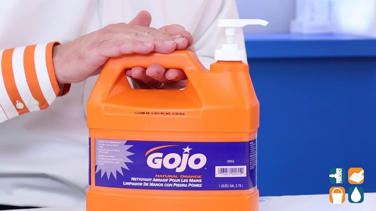 gojo 095504 orange pumice hand cleaner 1 gallon pump bottle youtube
