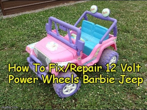 how to repair fix power wheels barbie jeep 12 volt 1996 chevy k1500 4x4 wiring diagram