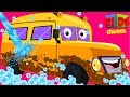 Mini school bus | car wash song for kids