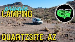 Free BLM Dispersed Camṗing Quartzsite Arizona | Private Boondocking